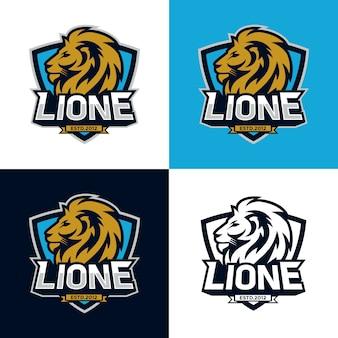 Lions head sport logo bild