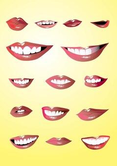 Lippen gesetzt