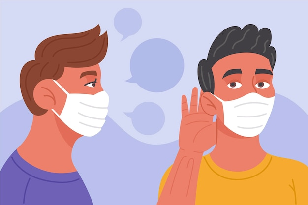 Lippenleseproblem aufgrund von gesichtsmasken