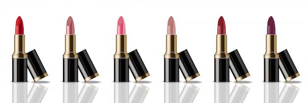 Lippenstift produktverpackung mock-up