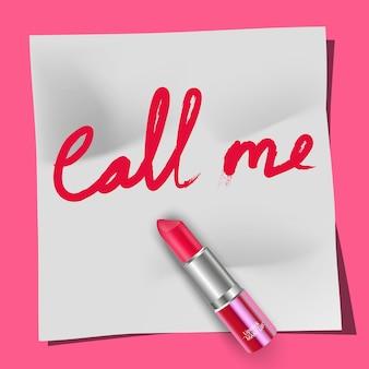 Lippenstift und die wörter rufen mich an