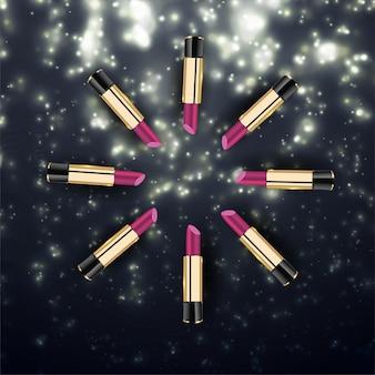 Lipstick collection anzeigenvorlage