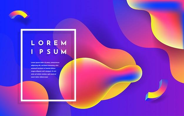 Liquid color hintergrund design. flüssigkeitsgradient formt zusammensetzung. futuristische designplakate.