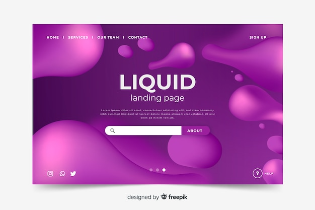 Liquid shapes-landingpage-vorlage