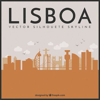 Lissabon skyline design