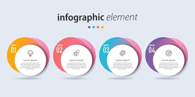 Liste der farbigen infografik-designs