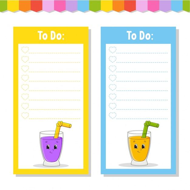 Liste für kinder zu tun. leere vorlage.