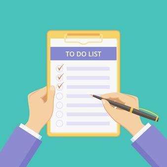 Liste in der zwischenablage zu tun