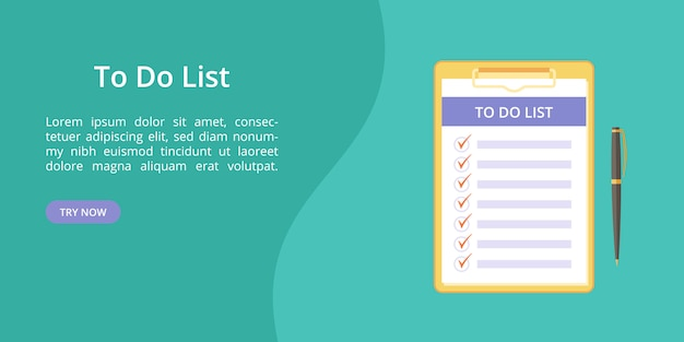 Liste in zwischenablage mit stift zu tun