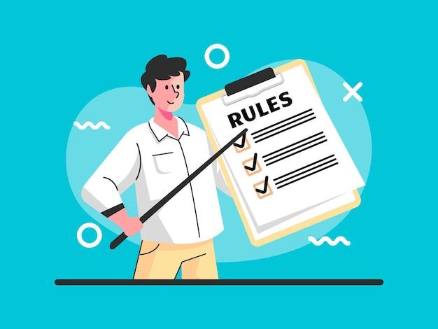 Liste oder regeln zum lesen von anleitungen zum erstellen einer checkliste