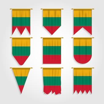 Litauen flagge in verschiedenen formen
