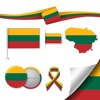 Litauen repräsentative elemente sammlung