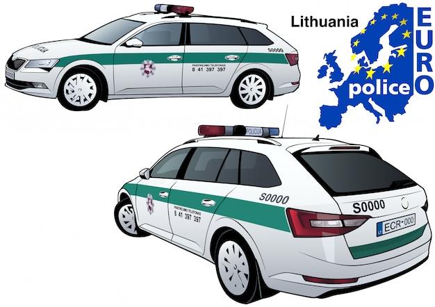 Litauisches polizeiauto