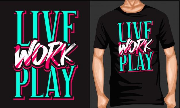 Live-arbeit spielen schrift typografie