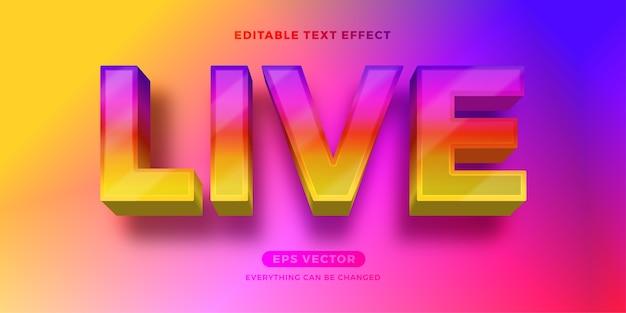 Live bearbeitbarer text