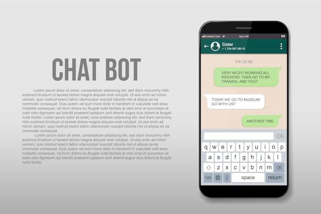 Live-chat-boxen für mobiltelefone. messenger-fenster.