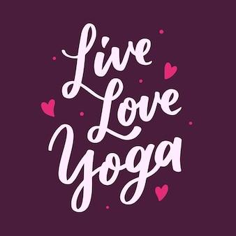 Live love yoga schriftzug typografie zitat poster inspiration motivation
