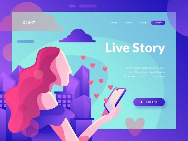 Live story-website-vorlage