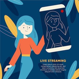 Live-stream-konzept dargestellt