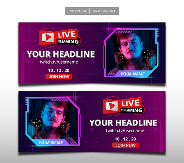 Live-streaming hi-tech-banner-design.