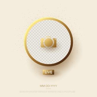 Live-streaming-hintergrund für social media