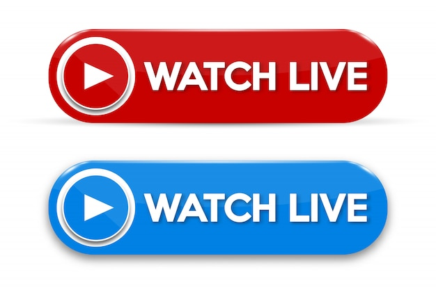 Live-streaming-konzept isoliert symbol