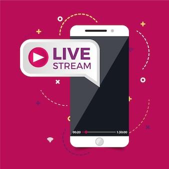 Live-streaming-konzept