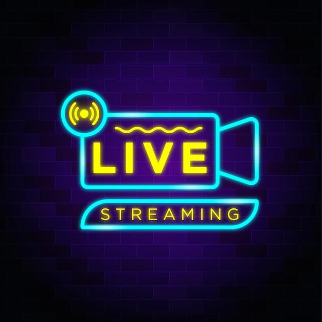 Live-streaming-leuchtreklamen-stiltext