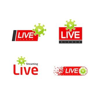 Live-streaming-logo für viren-updates