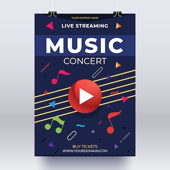 Live-streaming-musikkonzertplakat