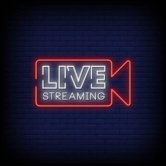 Live streaming neon singboard