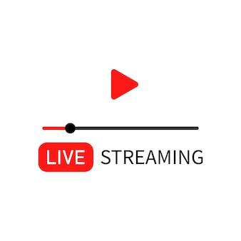 Live-streaming-symbol. online-stream. social-media-nutzer. vektor-eps 10. getrennt auf weißem hintergrund.