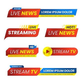 Live-streams nachrichten banner design