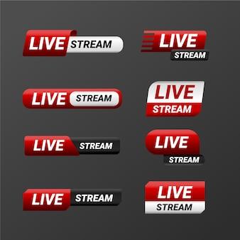 Live-streams nachrichtenbanner