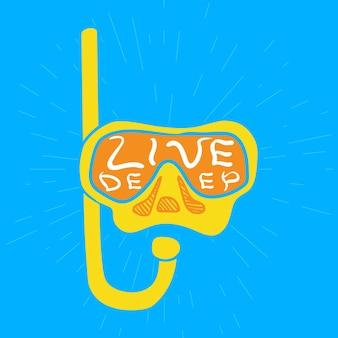 Live tiefes zitat für motivationsdruck für kleidung, nachrichtenaufkleber, grußkarten oder posterdesign. handgezeichnete doodle-schriftzug mit inspirationskonzept. vektor-illustration