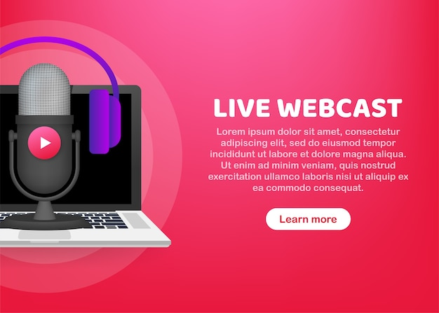 Live webcast button illustration