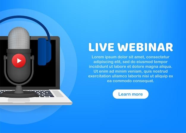 Live webinar button illustration
