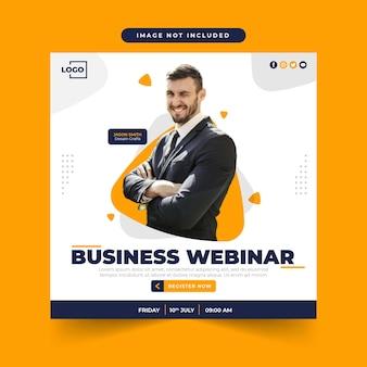 Live-webinar-social-media-post-vorlage für digitales marketing