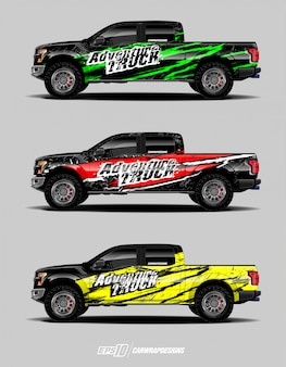 Lkw-aufkleber-design-set