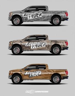 Lkw-aufkleber-grafiksatz