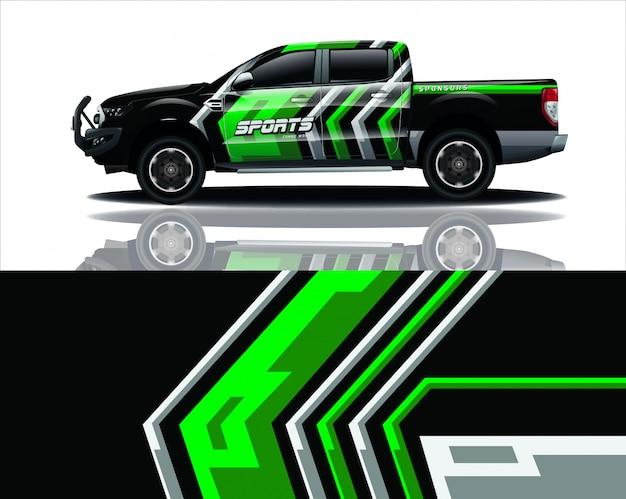 Lkw-aufkleber wrap-design