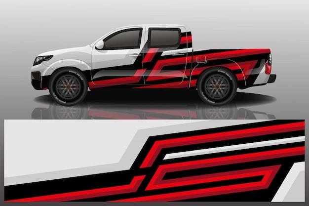 Lkw auto aufkleber wrap design vektor