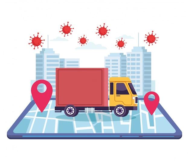 Lkw-lieferung online-service