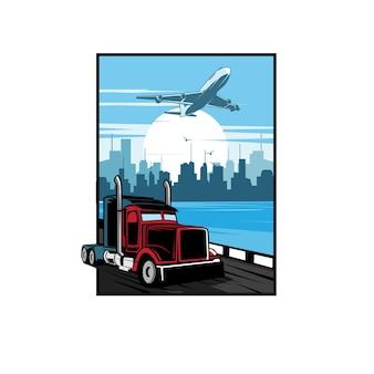 Lkw und flugzeug