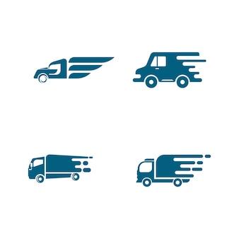 Lkw vektor icon design illustration vorlage