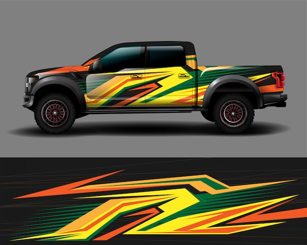 Lkw wrap design vektor
