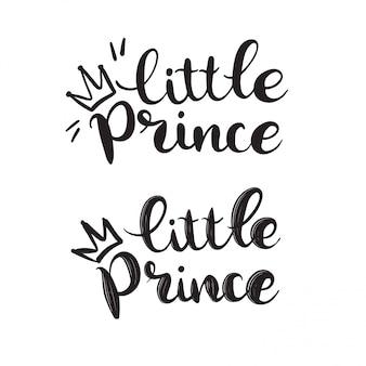 Llittle prince hand gezeichneter schriftzug