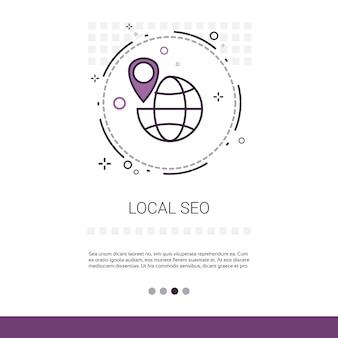 Local seo keywording suche web banner