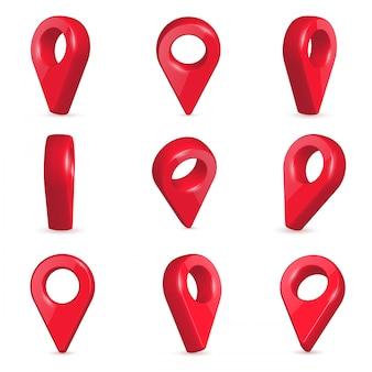 Locator in verschiedenen winkeln.