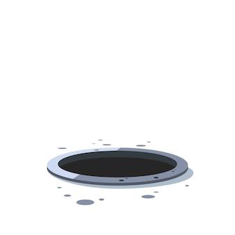 Loch im papier oder metall hintergrund designelement zerrissen